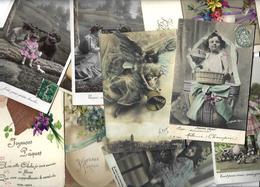 Lot N° 1566 De 10 CPA 9 X 14 Paques Oeuf Fantaisies Déstockage Pour Revendeurs Ou Collectionneurs - Postales