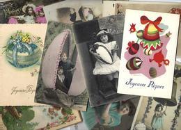 Lot N° 1567 De 10 CPA 9 X 14 Paques Oeuf Fantaisies Déstockage Pour Revendeurs Ou Collectionneurs - Postales