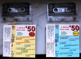 LOTTO 2 MUSICASSETTE MC IL MEGLIO DEGLI ANNI '50 VOLUMI 1 E 2 ETICHETTA FOX LINE - Audiokassetten