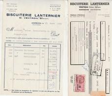 Petite Facture + Traite 1959 / Biscuiterie Lanternier / Ventron / Montbozon 70 - France