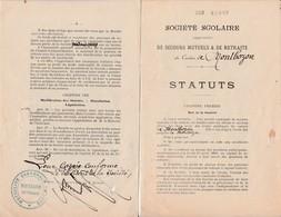 Fascicule 8 Pages Début 1900 / Sté Scolaire / Ecole De Garçons / Secours Mutuel / Montbozon 70 - France