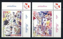 MONACO 2009 N° 2684/2685 ** Neuf MNH  Superbe Ballets Russes Danseurs Ballerines Draghilev Affiches Danses - Unused Stamps