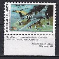 MARSHALL ISLANDS  - 1994 History Of The Second World War - U.S. Liberation Of Marshall Islands, 1944  M612 - Marshall