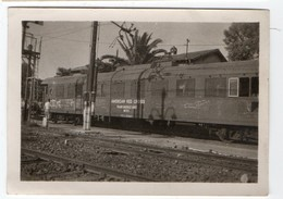 * - PHO - Italie En 1944/48 (vote For Dewey) - 4 Photos De Trains Américains- American Red Cross, Gare Bombardée - Guerra, Militares