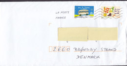France LA POSTE 2014 Cover Lettre BRØNDBY STRAND Denmark Vive Les Transport En Commun Vegetables Carrot Stamps - France