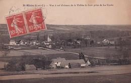 SAINT HILAIRE      VUE A VOL D OISEAU DE LA VALLEE DU LOIR PRISE DE LA CAVEE - France