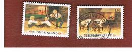 FINLANDIA (FINLAND) -  SG 977.978        -    1980  CHRISTMAS GAMES (COMPLET SET OF 2)           -   USED ° - Usados