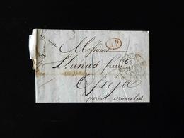 LETTRE DE ROUEN POUR OSSEJA  -  1833  - - 1801-1848: Précurseurs XIX