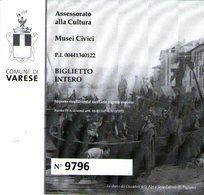 B 2334 - Varese, Musei Civici - Biglietti D'ingresso