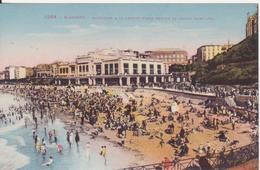 CPA -  1264. BIARRITZ Baigneurs à La Grande Plage Devant Le Casino Municipal - Biarritz