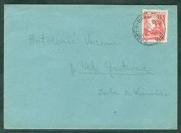 Yugoslavia 1957 Bahnpost Railway Mail Post Zagreb - Garesnica 28 A Letter Veliki Grdevac - 1945-1992 Socialist Federal Republic Of Yugoslavia