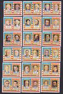 GUINEE EQUATORIALE N°   68, AERIENS 52 ** MNH Neufs Sans Charnière, 18 Val. TB (D8098) 200 Ans USA, Les Présidents -1975 - Guinée Equatoriale