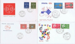 Europa - CEPT. 1959, 1961, 1963, And 1968.  Italy, 4 FDC. - Europa-CEPT