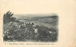 - Allier - Ref-C236 - Chatel Montagne - Environs - La Pierre Charbonniere - Carte Bon Etat - - Frankrijk