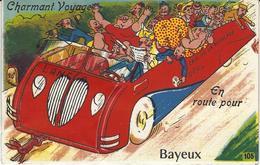 BAYEUX (Calvados 14) Carte à Système - 10 Vues De Bayeux (bon état) Charmant Voyage - En Route Pour Bayeux - Bayeux