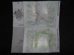 FRANCE Carte Du Réseau RATP RER T Ile De France- Tous Les Services Multimodaux  E P T 4 - Europe