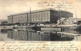 Bruxelles - L'Entrepôt Et Le Bassin De Commerce (invitation Villa Duinen Bosch Knocke) - Maritime
