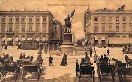 Bruxelles - Place Royale (tram Tramway Attelages 1911) - Vervoer (openbaar)