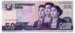 NORTH KOREA 50 WON 2002(2009) Pick 60 Unc - Korea, North