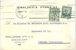 TARJETA COMERCIAL BARCELONA 1932 - 1931-Hoy: 2ª República - ... Juan Carlos I