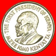 # WITH LEGEND (1969-1978): KENYA ★ 1 SHILLING 1978 MINT LUSTER! LOW START ★ NO RESERVE! - Kenya