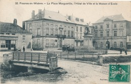 CPA - France - (55) Meuse - Fresnes-en-Woëvre - La Place Margueritte, L'Hôtel De Ville - Other Municipalities