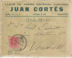 CARTA COMERCIAL  1926  BARCELONA - 1889-1931 Reino: Alfonso XIII