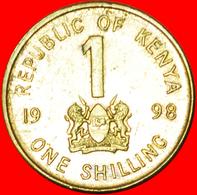 # COCK AND LIONS (1995-1998): KENYA ★ 1 SHILLING 1998! LOW START ★ NO RESERVE! Daniel Toroitich Arap Moi (1978-2002) - Kenya