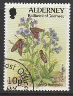 Alderney 1994 -1995 Flora And Fauna 10 P  Multicoloured SW 74 O Used - Alderney