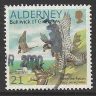 Alderney 2000 Birds - The Peregrine Falcon 21 P  Multicoloured SW 145 O Used - Alderney
