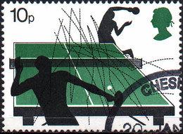GREAT BRITAIN 1977 Racquet Sports: 10p Table Tennis - 1952-.... (Elizabeth II)