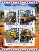 SOLOMON ISLANDS 2016 SHEET AUSTRALIAN TRAINS TRENES LOCOMOTIVES LOCOMOTORAS Slm16515a - Islas Salomón (1978-...)