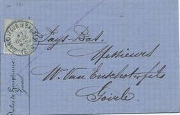 214/28 - Lettre TP 39 GAND Faub. De Bruges 31/12/1886 ( Emploi TARDIF) Vers GOIRLE NL- TARIF PREFERENTIEL 20 C.- COB 150 - 1883 Leopoldo II