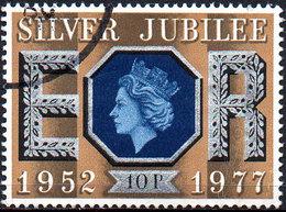 GREAT BRITAIN 1977 Silver Jubilee: 10p Blue And Ochre - 1952-.... (Elizabeth II)