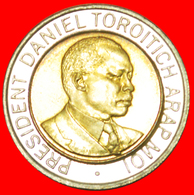 # COCK AND LIONS: KENYA ★ 20 SHILLINGS 1998 MINT LUSTER! LOW START ★ NO RESERVE! Daniel Toroitich Arap Moi (1978-2002) - Kenya