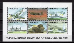 NICARAGUA  - 1994 The 50th Anniversary Of D-Day  M653 - Nicaragua