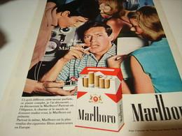 ANCIENNE PUBLICITE CIGARETTES MARLBORO  1969 - Tabac (objets Liés)