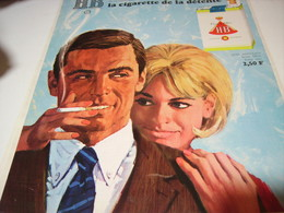 ANCIENNE PUBLICITE CIGARETTE DE DETENTE  HB 1969 - Tabac (objets Liés)