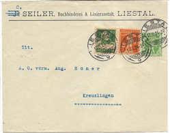 1924, Lettre Entier Postal Privé Buchbinderei Und Linieranstalt, Entreprise De Reliure Liestal - Enteros Postales