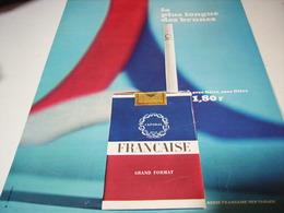 ANCIENNE PUBLICITE UNE JOURNEE CIGARETTE FRANCAISE 1967 - Tabac (objets Liés)