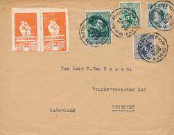 "219/28 - Lettre TP Houyoux Et Divers ANTWERPEN 1930 Vers NL - TB Vignettes ""Wapens Neer"" Et ""Vlaamse Gezellehulde"" - 1922-1927 Houyoux"