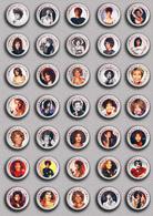 35 X WHITNEY HOUSTON Music Fan ART BADGE BUTTON PIN SET 1 (1inch/25mm Diameter) - Music