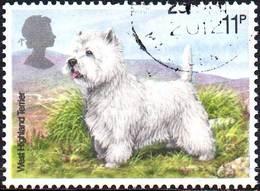 GREAT BRITAIN 1979 Dogs: 11p West Highland Terrier - Oblitérés
