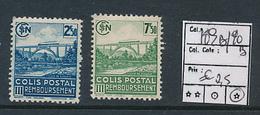 FRANCE CF YVERT 189B/190B LH - Colis Postaux