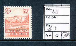 FRANCE CF YVERT 211 LH - Pacchi Postali