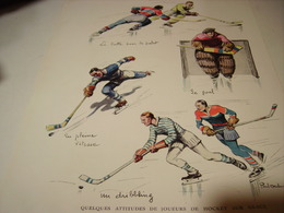 ANCIENNE AFFICHE HOCKEY SUR GLACE  1932 - Sports