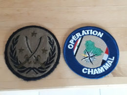 2 Insignes Operation Chammal Armee Francaise Irak - Patches