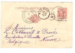 PR7053/Entier CP 10c C.Costa ....POLI I 1908 V.Manufacture D'Alumettes Cobbaert & Prové Ninove C.d'arrivée - Postwaardestukken