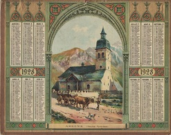 ALMANACH DES POSTES 1928 - FORMAT LIVRET CARTONNE SIMPLE - COMPLET AVEC CARTE - DEPARTEMENT DE LA SARTHE. - Calendari