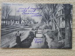 Cpa Canada Quebec St-damase Rue De L'église 1908 - Quebec